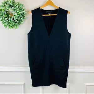 Andrea Jovine Vintage Black V-Neck Sweater Dress